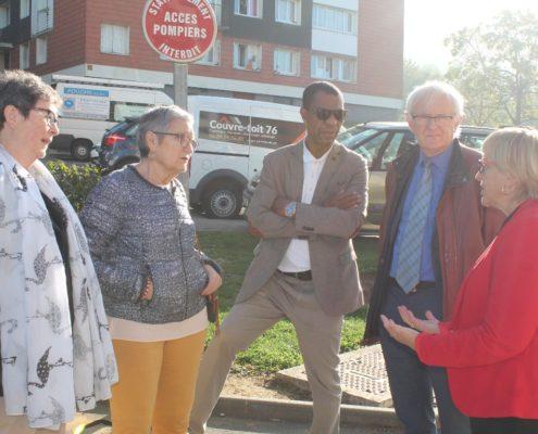 Visite de quartiers par les élus
