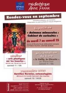 Exposition « Animaux minuscules : Cabinet de curiosités » @ Médiathèque Anne Frank