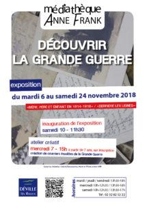 """Exposition """"Découvrir la Grande Guerre"""" @ Médiathèque Anne Frank"""