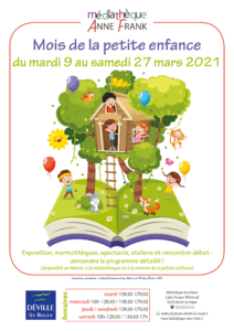 """Exposition """"Mois de la petite enfance"""" @ Médiathèque Anne Frank"""