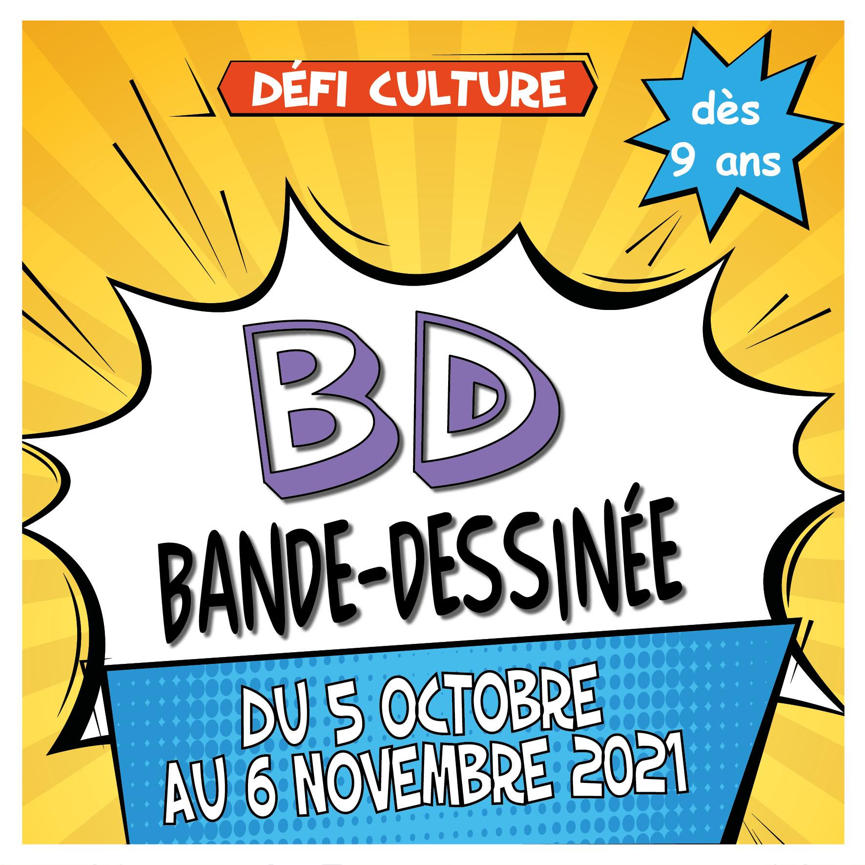 Défi Culture : la bande dessinée @ Médiathèque Anne Frank